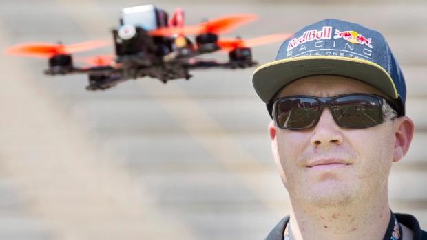 Professional drone racer Ryan Walker