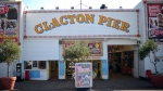 Clacton Pier in Clacton-on-Sea, south east England is pictured. (CARL COURT / AFP)