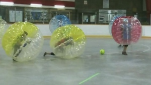 CTV Northern Ontario: Bubble Zuit Soccer