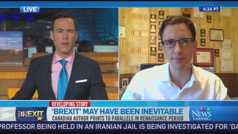 Author Chris Kutarna speaks to CTV News Channel on June 27, 2016.