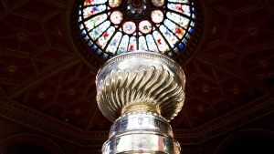 The Stanley Cup stands in the Hockey Hall of Fame in Toronto on Friday, March. 9, 2012. (Nathan Denette / THE CANADIAN PRESS)