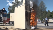 Dryer fire demo