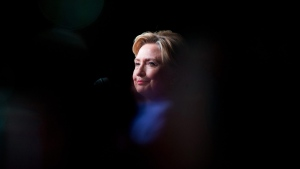 Democratic presidential candidate Hillary Clinton pauses while speaking at a Rainbow PUSH Women's International Luncheon at the Hyatt McCormick in Chicago, Monday, June 27, 2016. (AP Photo/Andrew Harnik)