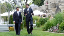 Justin Trudeau and Mexico's Enrique Pena Nieto