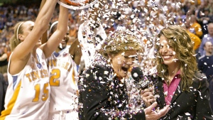Pat Summitt after the Lady Vols defeated Georgia in Knoxville, Tenn., on Feb. 5, 2009. (Wade Payne / AP)