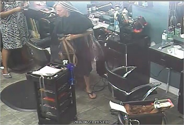 London police have identified a suspect who allegedly left a salon without paying for work done on her hair. (Courtesy London Police Service)