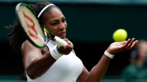 Serena Williams on day two of the Wimbledon Tennis Championships in London, on June 28, 2016. (Ben Curtis / AP)