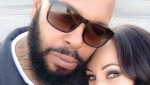 "In this undated photo provided by Toi-Lin Kelly, Marion ""Suge"" Knight and his fiancee Kelly take a selfie in Los Angeles. (Toi-Lin Kelly via AP)"