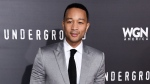 "In this March 2, 2016, file photo, John Legend arrives at the LA Premiere of ""Underground"" in Los Angeles. (Photo by Richard Shotwell/Invision/AP, File)"