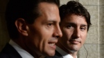 Prime Minister Justin Trudeau and Mexican President Enrique Pena Nieto take part in a joint press conference on Parliament Hill in Ottawa on Tuesday, June 28, 2016. (Sean Kilpatrick / THE CANADIAN PRESS)