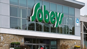 A Sobeys grocery store owned by Empire Co. Ltd. is seen in Halifax on Thursday, Sept. 11, 2014. (File / THE CANADIAN PRESS)