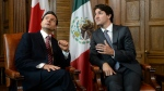 Prime Minister Justin Trudeau meets with Mexican President Enrique Pena Nieto in his office on Parliament Hill in Ottawa on Tuesday, June 28, 2016. (Sean Kilpatrick / THE CANADIAN PRESS)