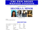 Shanika Minor, a Milwaukee woman accused of killing a pregnant woman is now on the FBI's '10 Most Wanted Fugitives' list. (FBI)