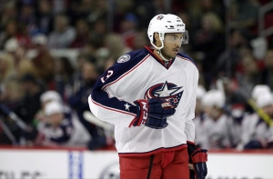 Columbus Blue Jackets' Seth Jones (3) is seen during a break in action during the second period of an NHL hockey game against the Carolina Hurricanes in Raleigh, N.C., on Jan. 8, 2016. (Gerry Broome / THE CANADIAN PRESS)