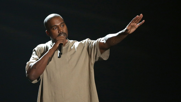 In this Aug. 30, 2015, file photo, Kanye West accepts the video vanguard award at the MTV Video Music Awards at the Microsoft Theater in Los Angeles.(Photo by Matt Sayles/Invision/AP, File)