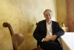In this file photo, British author Ian McEwan poses after speaking at the Man Hong Kong International Literary Festival in Hong Kong Tuesday, Jan. 12, 2008. (AP / Vincent Yu)
