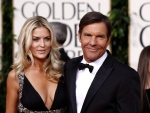 In this Jan. 16, 2011 file photo, actor Dennis Quaid and his wife Kimberly Buffington Quaid arrive for the Golden Globe Awards in Beverly Hills, Calif. (AP / Matt Sayles)