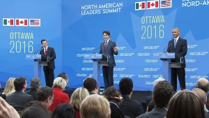 North American leaders speak in Ottawa