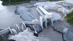 AltaGas' 195-MW Forrest Kerr Hydroelectric Facility which started delivering clean energy to BC Hydro's Northwest Transmission Line in 2014, was officially opened on Tuesday, June 2, 2015. (AltaGas Ltd.)