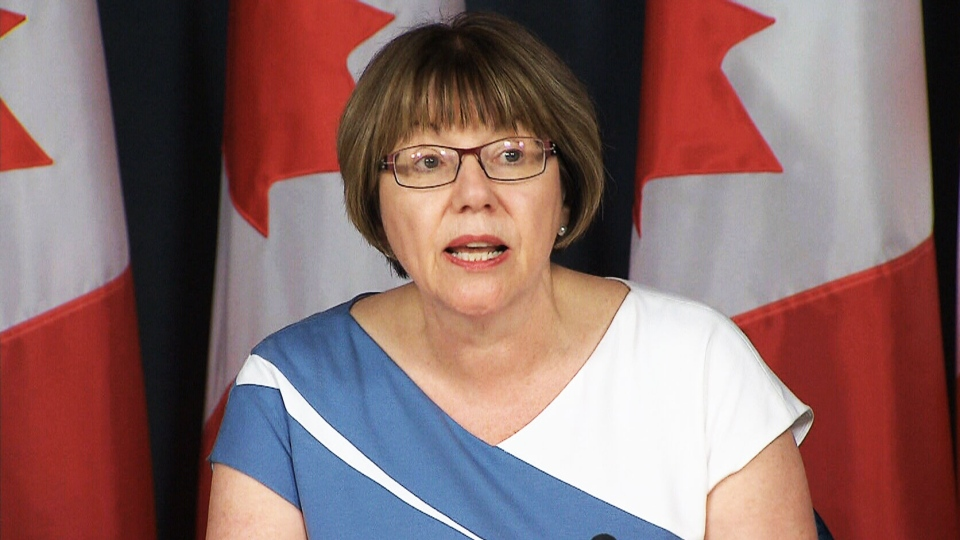 Former justice minister Anne McLellan, who also served as public safety minister and deputy prime minister under Jean Chretien, speaks at a press conference in Ottawa on Thursday, June 30, 2016.