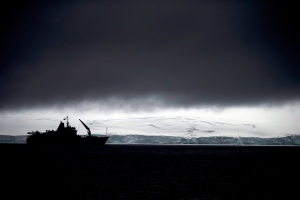 FILE In this Jan. 25, 2015 file photo, Chile's Navy ship Aquiles moves alongside the Hurd Peninsula, seen from Livingston Islands, part of the South Shetland Islands archipelago in Antarctica. (AP / Natacha Pisarenko)