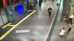In this framegrab from CCTV video, made available by the Turkish Haberturk newspaper on Thursday, June 30, 2016, a man, circled, believed to be one of the attackers walks in Istanbul's Ataturk airport, Tuesday June 28, 2016. (Haberturk newspaper via AP Photo)