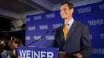 Democratic mayoral hopeful Anthony Weiner makes his concession speech in midtown New York after losing the election to Bill de Blasio on Sept. 10, 2013. (AP / Jin Lee)