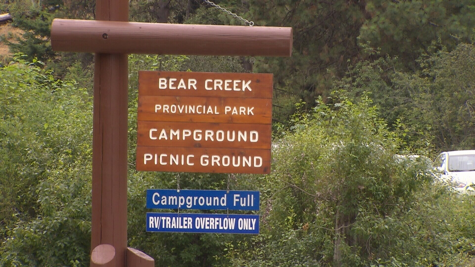 Places like Bear Creek Provincial Campground in Kelowna have been fully booked for the Canada Day long weekend since the sites went onto the provincial website 90 days ago. (CTV News). July 1, 2016.