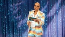 RuPaul Charles seen on set of RuPaul's Drag Race on April 4, 2016. (Everett Collection)