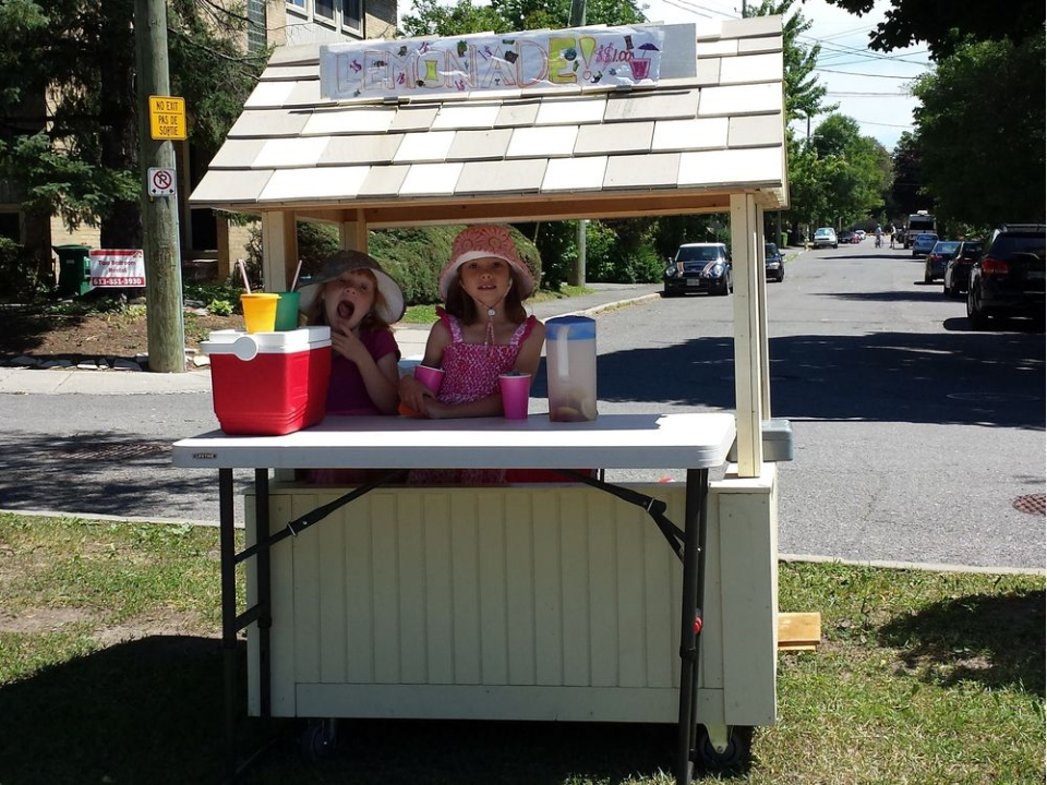Eliza and Adela's lemonade stand was shut down over the weekend (Courtesy: Kurtis Andrews)