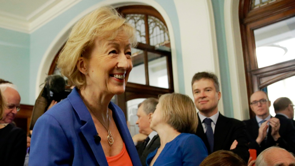 Andrea Leadsom in London, on July 4, 2016. (Matt Dunham / AP)