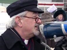 Anglican Bishop John Chapman says religious leaders have to speak out to defend the city's most vulnerable residents during the public transit strike.