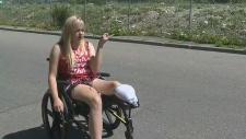 Girl loses leg