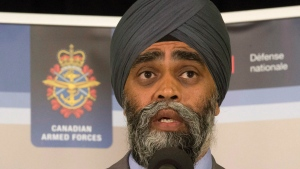 Minister of National Defence Minister Harjit Sajjan speaks in Ottawa, on July 6, 2016. (Adrian Wyld / THE CANADIAN PRESS)