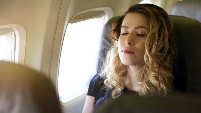 Meditation exercises can help calm flying fears