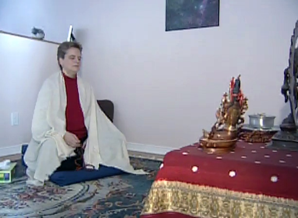 Suvayd Allenger, who feels stranded without public transit, meditates to help keep her mind off the OC Transpo strike.