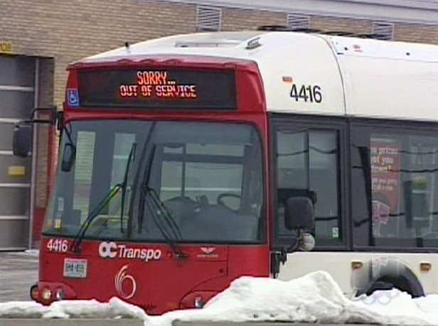 OC Transpo buses have been off the road since Dec. 10, 2008.