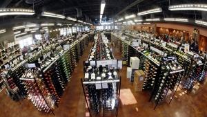 Bottles of wine are displayed at a liquor store in Salt Lake City, Utah., on Thursday, June 16, 2016. (AP Photo/Rick Bowmer)