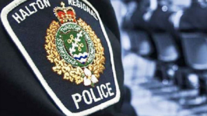 A Halton Regional Police Service officer is seen in this undated file photo.