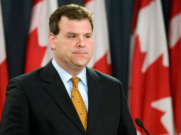 Transport and Infrastructure Minister John Baird speaks at a news conference in Ottawa, Monday, Jan. 26, 2009. (Tom Hanson / THE CANADIAN PRESS)