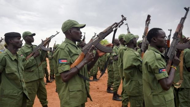 South Sudan rebel chief urges armed resistance to Juba government