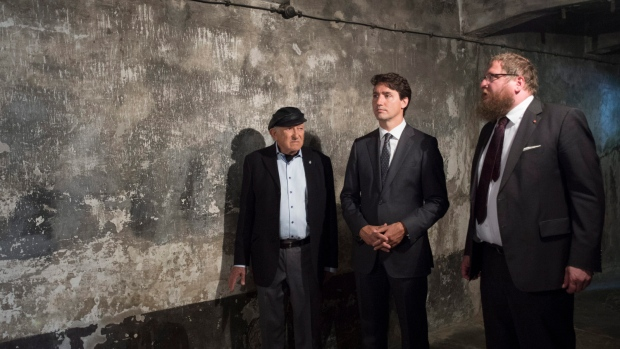 Justin Trudeau visits Auschwitz after attending North Atlantic Treaty Organisation summit