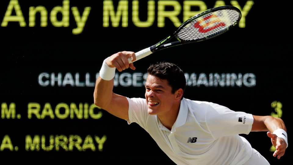 Image result for milos raonic & wimbledon