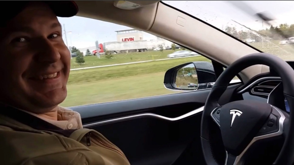 Driverless car crash