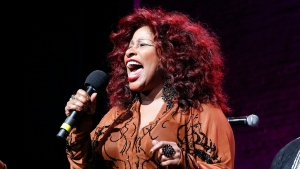 """FILE - In this Oct. 24, 2014, file photo, Chaka Khan performs at the 13th annual """"A Great Night in Harlem"""" gala concert in New York. Khan is being considered for induction next year in the Rock and Roll Hall of Fame. (Photo by Mark Von Holden/Invision/AP, File)"""