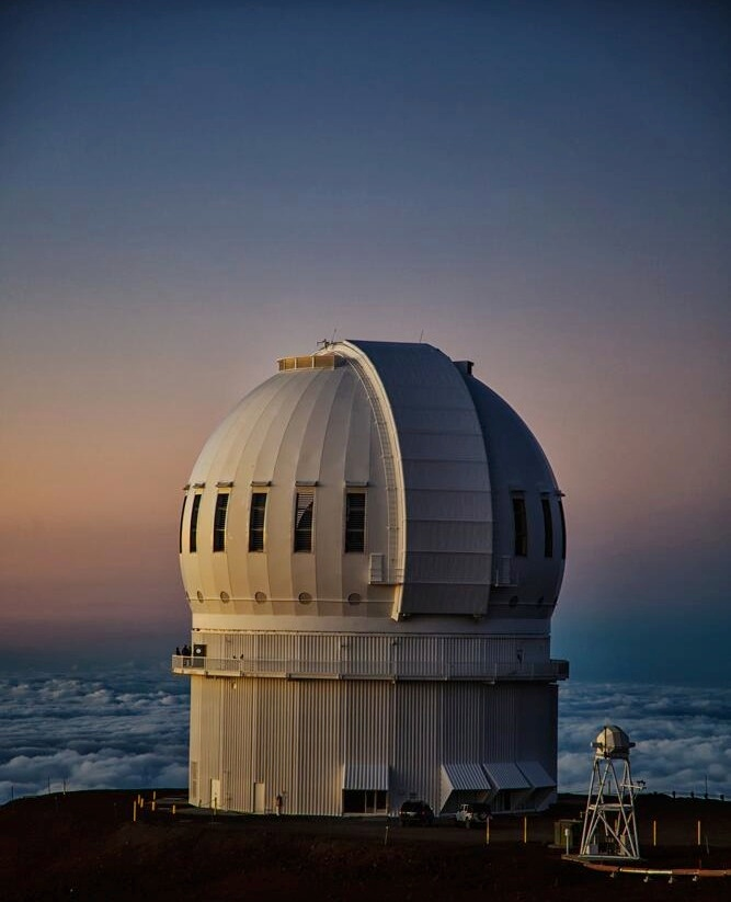 The Canada-France-Hawaii Telescope is located in Maunakea, Hawaii. (OSSOS)