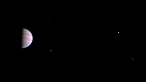 This July 10, 2016, image released by NASA was taken by the Juno spacecraft, five days after it arrived at Jupiter. (Juno/NASA/JPL-Caltech/SwRI/MSSS via AP)
