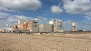 Mosaic Co.'s potash mine in Colonsay, Sask. is seen in this undated file photo.