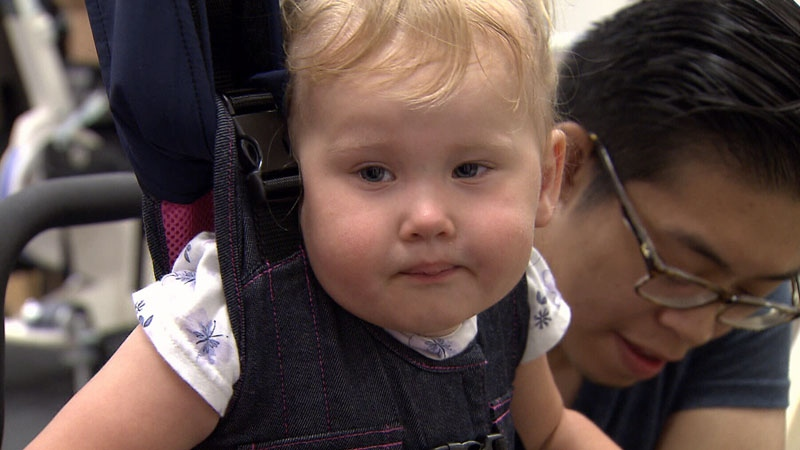 Two-year-old Julia Grassmick woke up one morning in October 2015 unable to move her legs. (CTV)