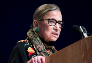 In this Jan. 28, 2016 file photo, Supreme Court Justice Ruth Bader Ginsburg speaks at Brandeis University in Waltham, Mass. (AP / Michael Dwyer)